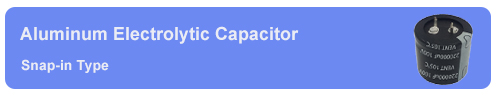 Snap in capacitor