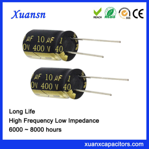 High Voltage 400V 10UF Capacitor Electrolytic 8000Hours