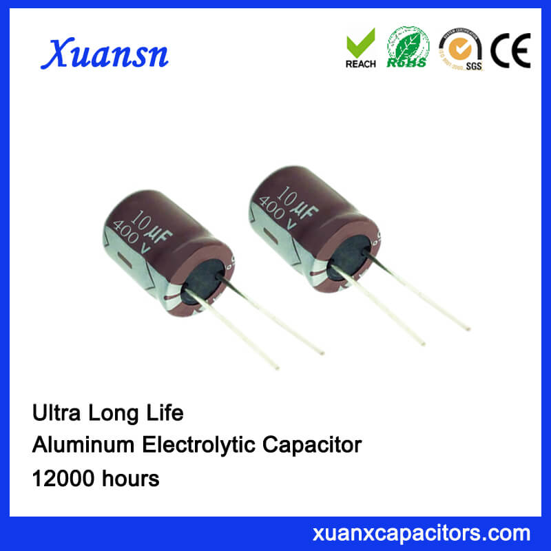 High Voltage Long Life 10uf 400v Electrolytic Capacitor