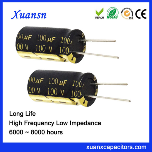 Radial Aluminum Electrolytic 100uf 100v Capacitor