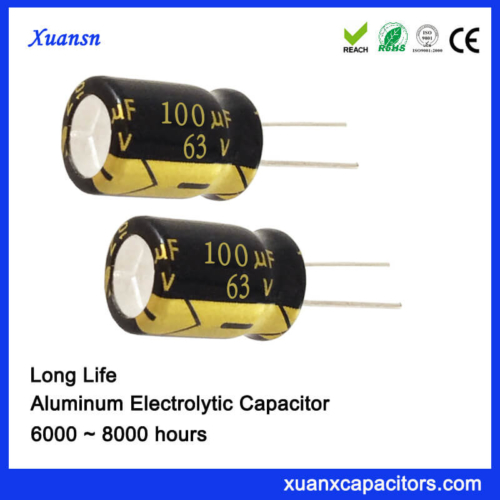 63V 100UF 8x12MM Electrolytic Capacitor 8000Hours