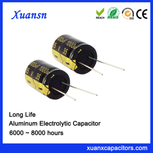 Radial Long Life 1000uf 35v 105c Electrolytic Capacitor