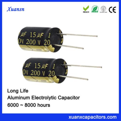 Aluminum Electorlytic Capacitor 200V 15UF 8000Hours