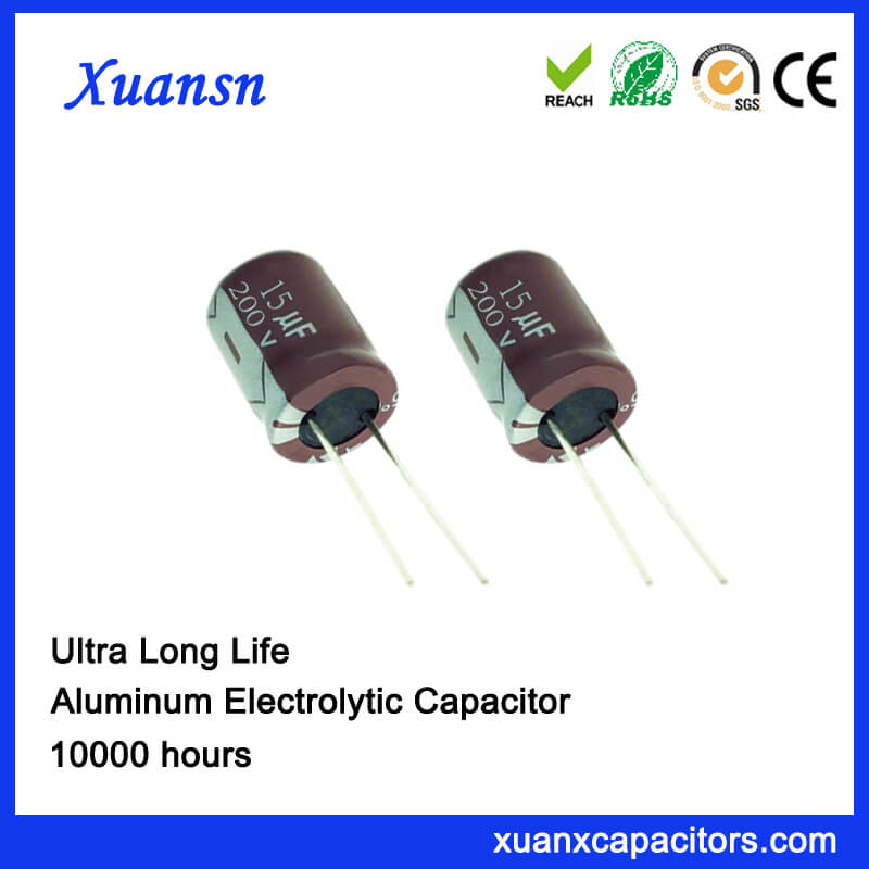 10000H Long Life Radial Electrolytic 15uf 200v Capacitor