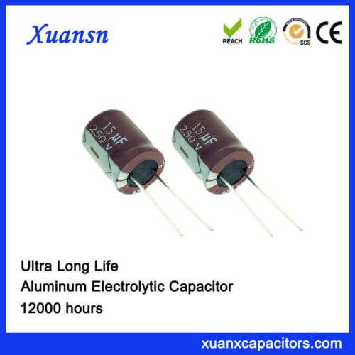 Long Life Radial Aluminum Electrolytic Capacitor 15uf 250v