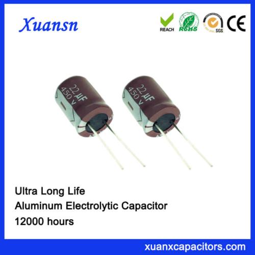 22UF 450V Aluminum Electrolytic Capacitor Manufacturers