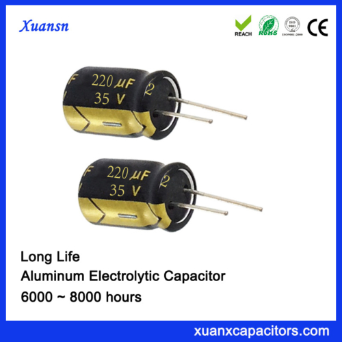 220uf 35v High Temperature Al Electrolytic Capacitor