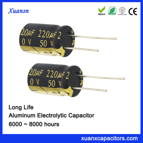 Customized 220UF Electrolytic Capacitors Long Life