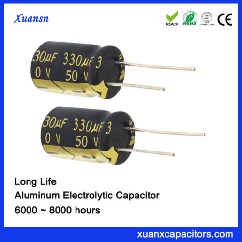 Long Life DIP Electrolytic 330uf 50v Capacitor 105c