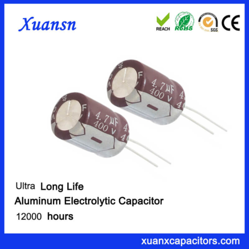 High Voltage 4.7 uf 400v Capacitor For Led Driver Power
