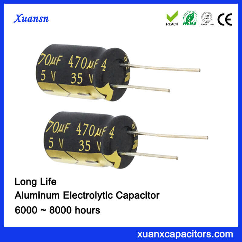 470uf 35v Electrolytic Radial Capacitor For Power Supply