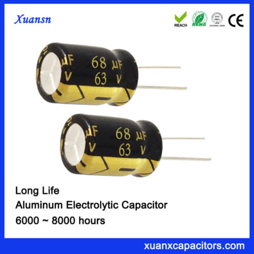 63V 68UF Electrolytic Capacitor 8000Hours 105℃