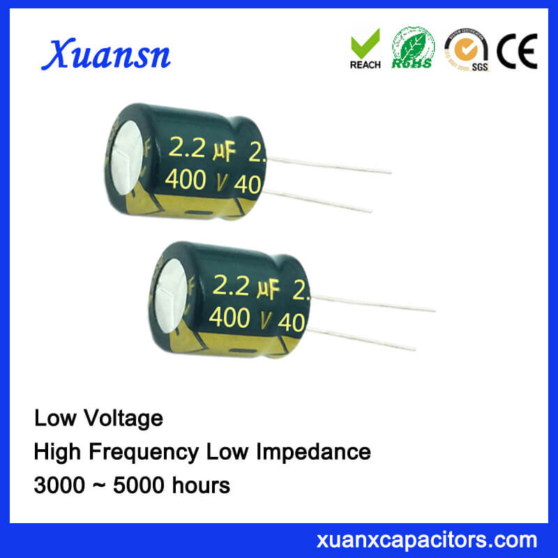 2.2UF 400V High Voltage High Frequency Electrolytic Capacitor