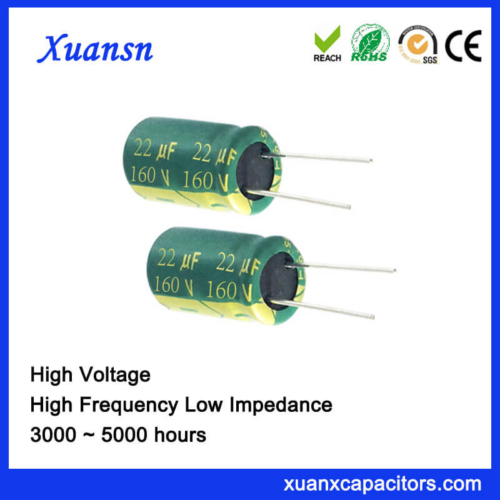Low Impedance 160v 22uf Electrolytic Capacitor For Sale
