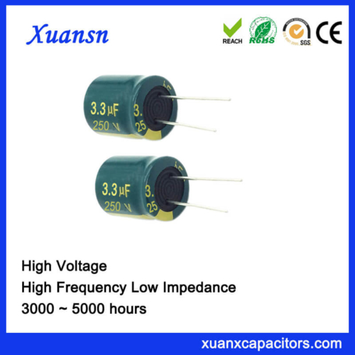 3.3UF 250V Electrolytic Capacitor High Frequency 5000Hours