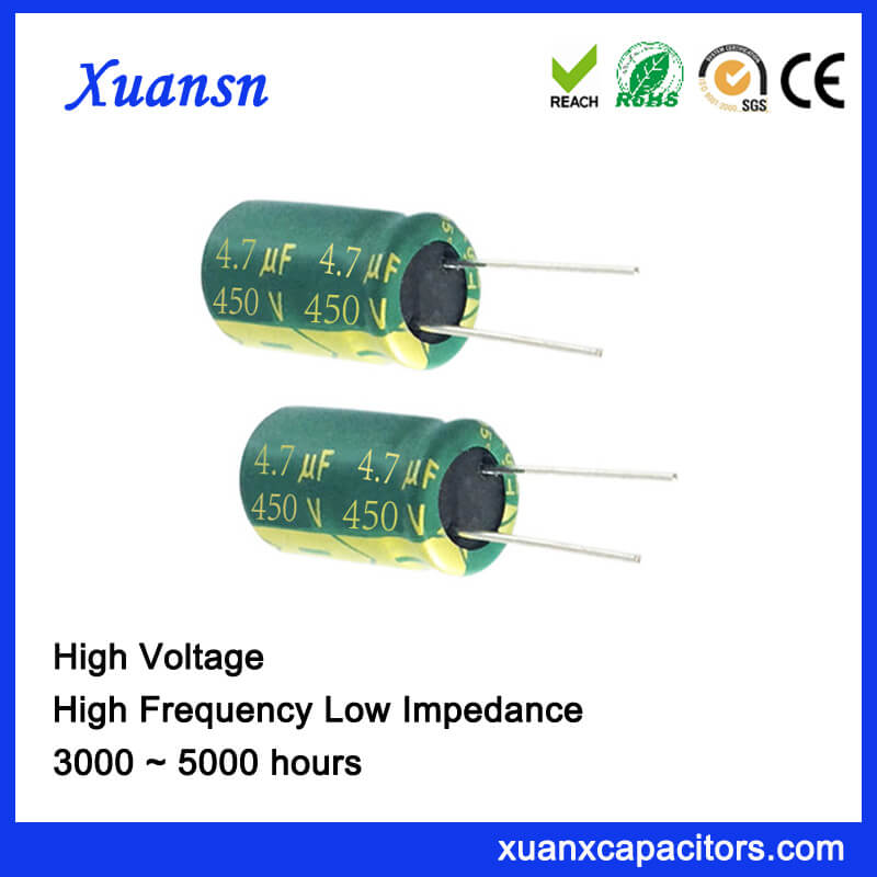 450V 4.7UF High Voltage Capacitor Low Impedance