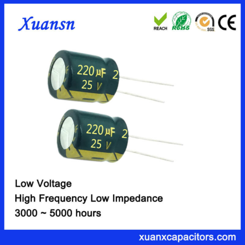 220UF 25V Aluminum Electrolytic Capacitor Low Impedance