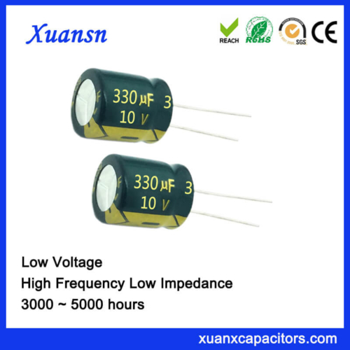 10V 330UF Radial Lead Capacitor High Frequency 105℃ 4000Hours