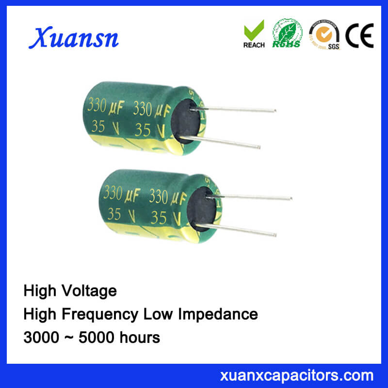 35V 330UF 105℃ Electrolytic Capacitor Low Voltage High Frequency
