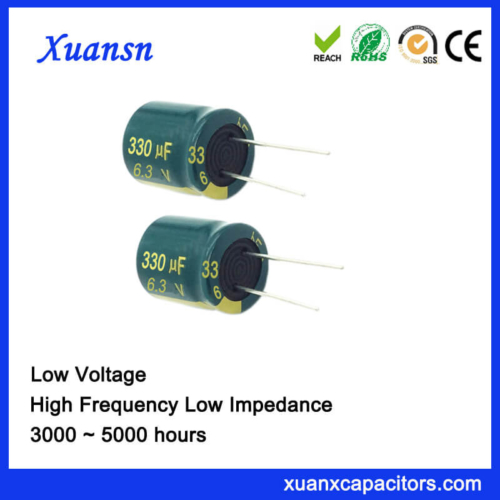 6.3V 330UF Low Voltage Capacitor High Frequency 5000Hours