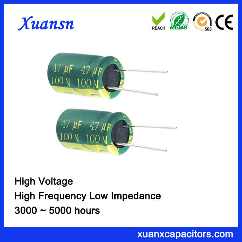 Low Voltage Low Impedance 47uf 100v Capacitor Factory