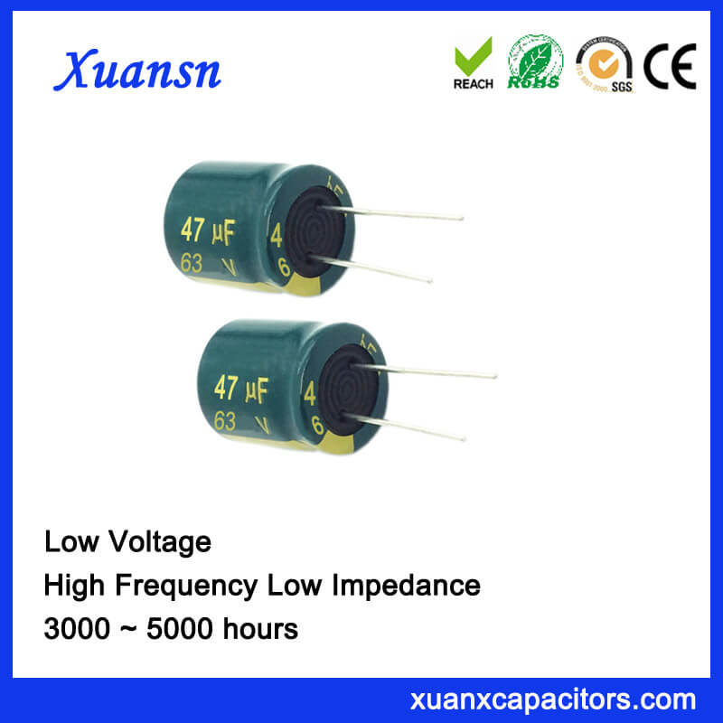 China 63V 47UF Electrolytic Capacitor High Frequency