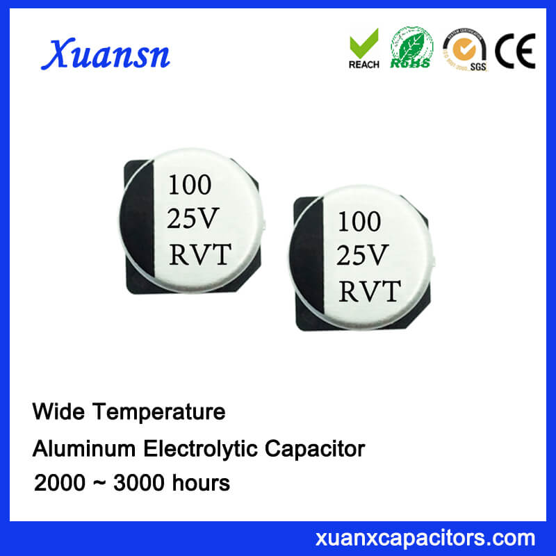 100uf 25v SMD Aluminum Electrolytic Capacitor Manufacturer