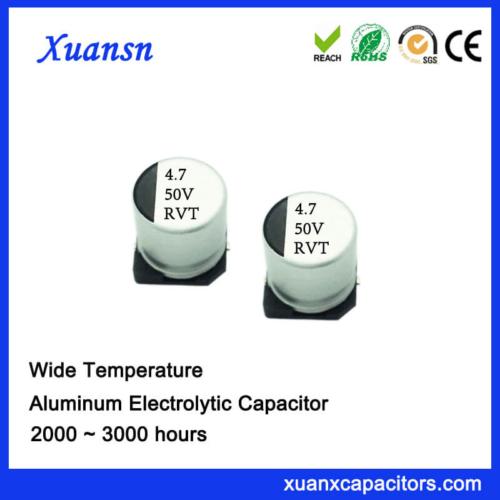 105℃ 4.7uf 50v SMD Aluminum Electrolytic Capacitor