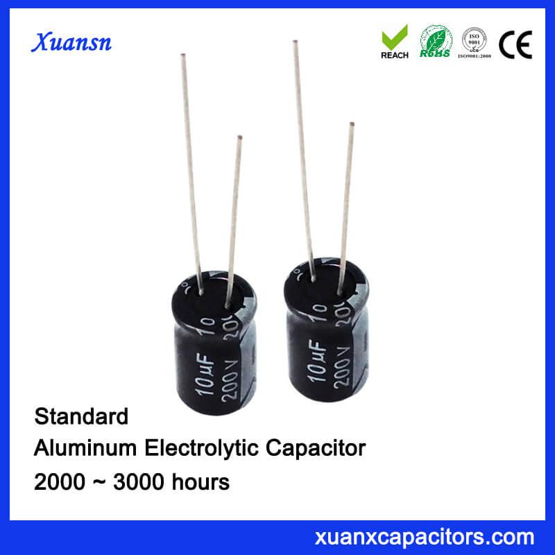 DIP 10UF 200V Aluminum Eelctrolytic Capacitor