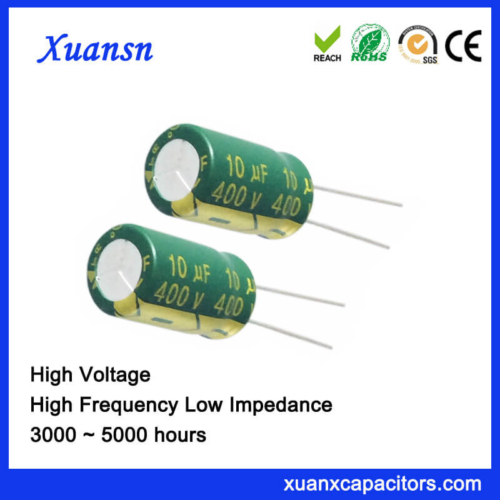 PET 10UF 400V Electrolytic Capacitor For Adapter