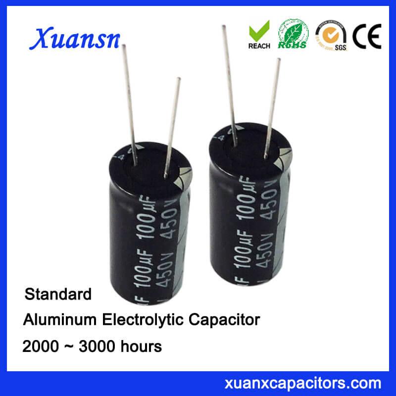 100UF 450V Aluminum Electrolytic Capacitors
