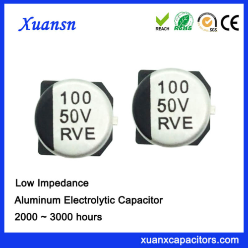 Surface Mount 100UF 50V Low Impedance Capacitor