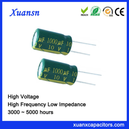 Low Impedance Radial Capacitor 1000uf 10v Capacitor