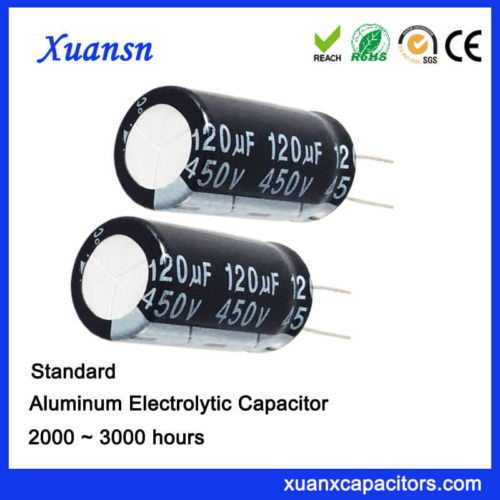 120UF 450V Lead Aluminum Electronic Capacitor