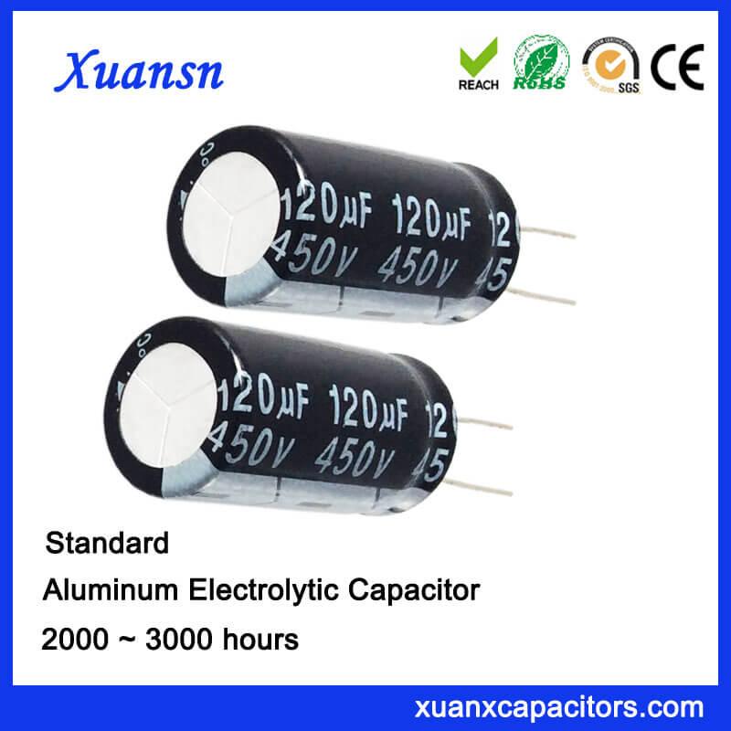 120UF 450V Lead Aluminum Electronic Capacitor