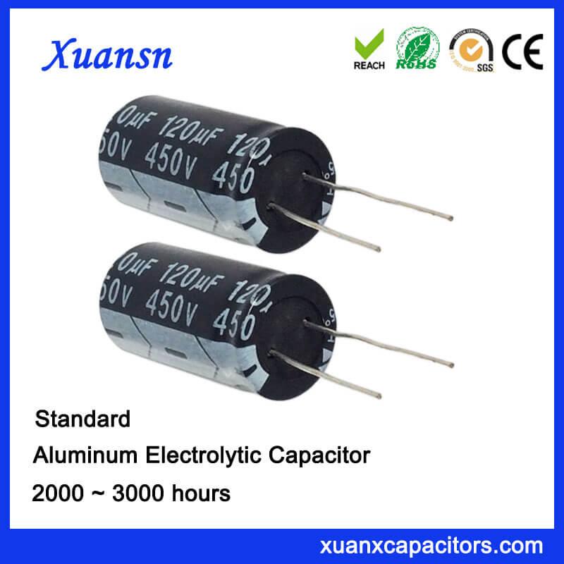 120UF 450V Lead Aluminum Electronic Capacitor1