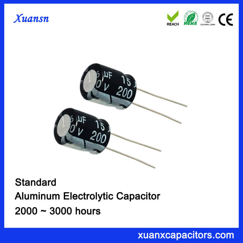 15UF 200V Electrolytic Capacitor For Air Conditioning