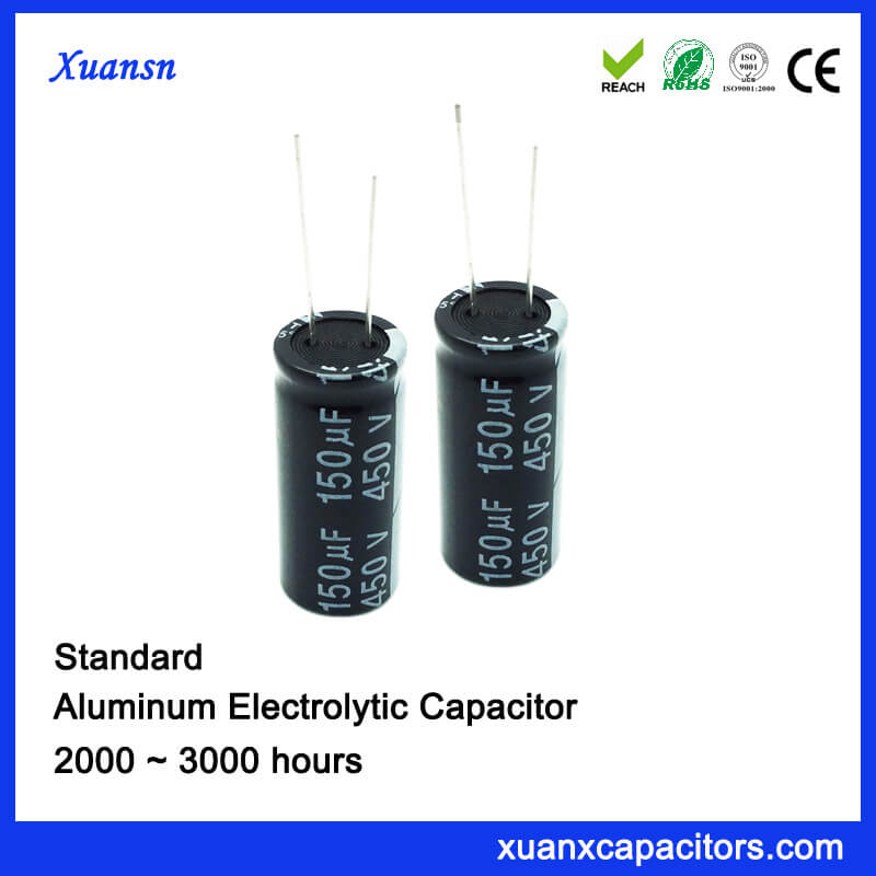 3000 Hours 150UF 450VEelctrolytic Capacitor
