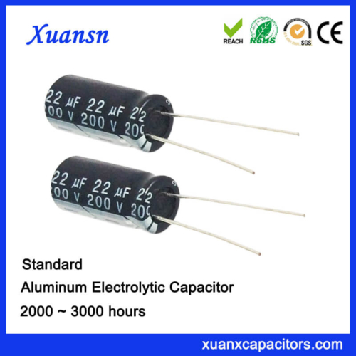 22UF 200V Aluminum Eelctrolytic Capacitor For Adapter