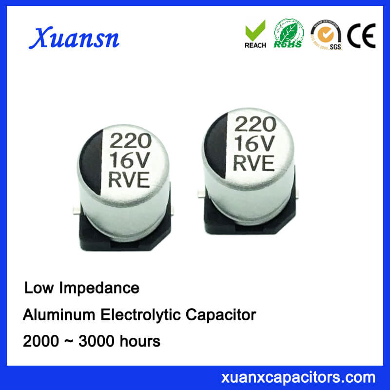 Low Impedance 16V 220UF SMD Capacitor Factory