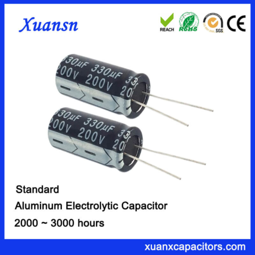 200V 330UF Aluminum Electrolytic Capacitor For Adapter