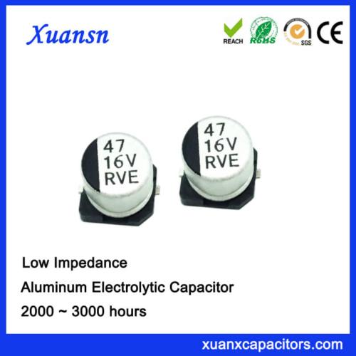 China Chip Type 47UF 16V SMD Electrolytic Capacitor