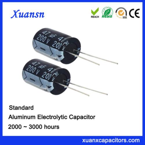 Lead 47UF200V Aluminum Electrolytic Capacitor