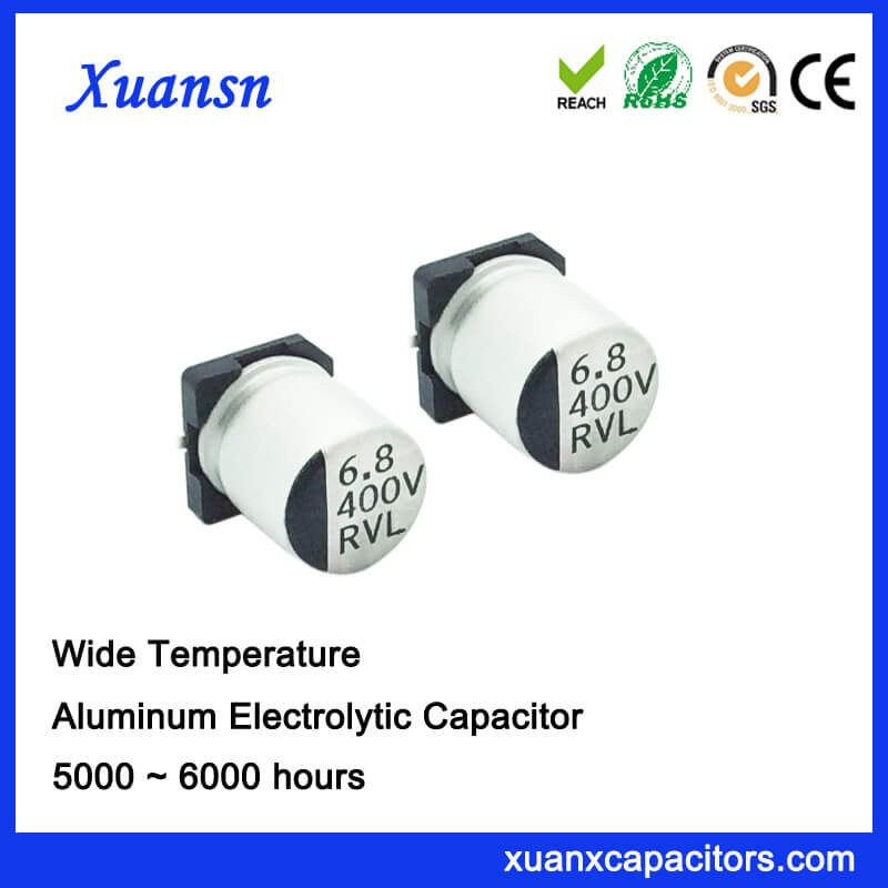 High Quality SMD 6.8UF 400V Electrolytic Capacitor