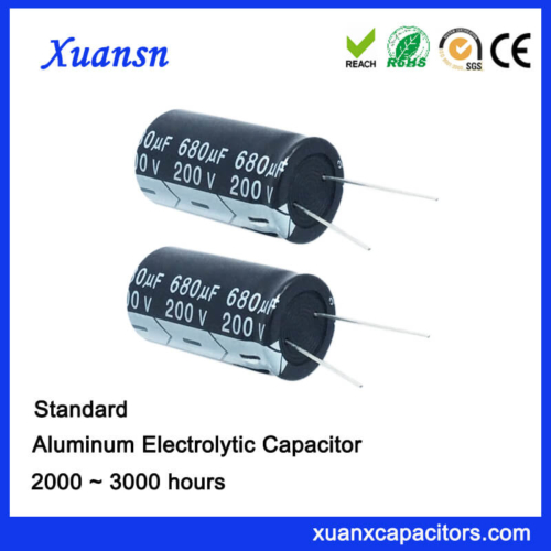 Standard 200V680UF Electrolytic Capacitor China