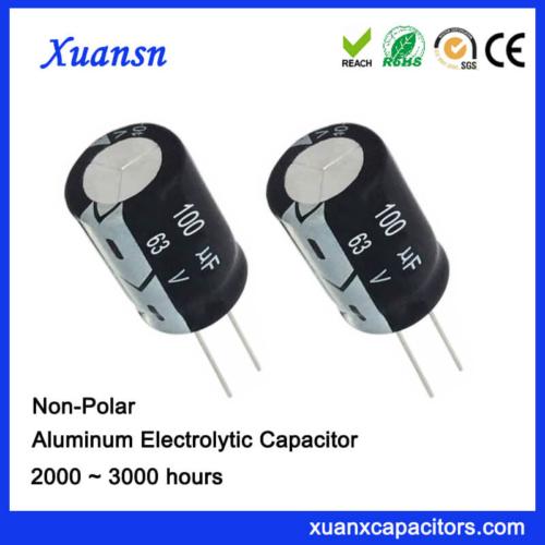 63v 100uf Non Polarized Capacitor Electrolytic