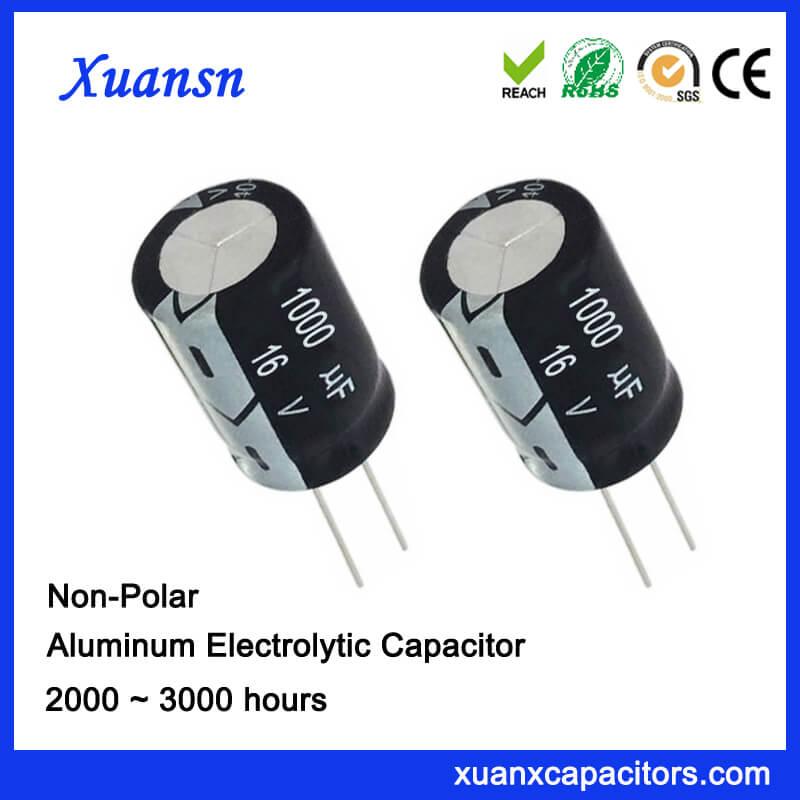 Non Polrized 16V 1000UF Capacitor Electrolytic