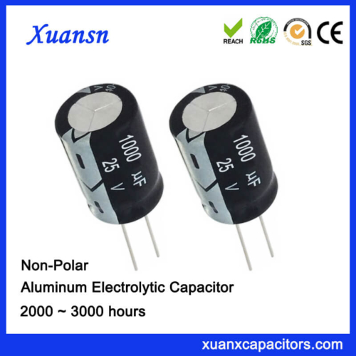 Non Polarised 25V 1000UF Electrolytic Capacitor