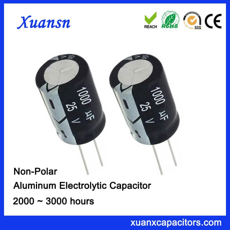 Non Polarised 25V 1000UF Electrolytic Capacitor