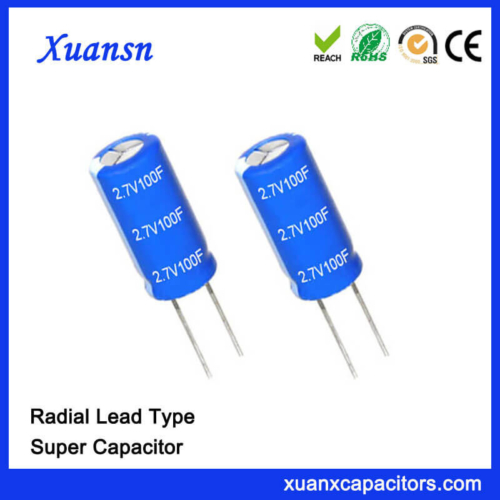 Non Polluted 2.7V Super Capacitor 100 F Capacitor
